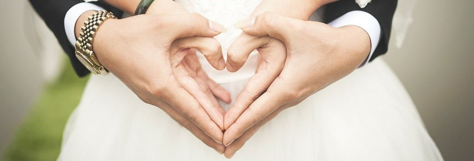 Illustration de l'amour d'un mariage